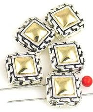 5 2 hole slider beads cast metal beads 9480