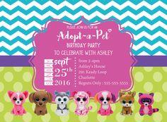Beanie Boo Birthday Invitation Girl Birthday by MillennialMomLife