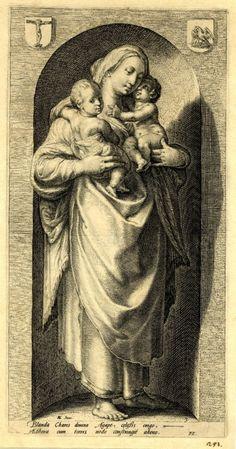 Hendrick Goltzius (Dutch, 1558-1617) The Virtues. Charity (Добродетели. Любовь, Милосердие). 1593 г. The British Museum