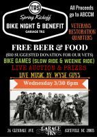 Asheville, NC - Mar. 30, 2016: Bike Night and Benefit for the ABCCM Veterans Restoration Quarters. This month all the proceeds will go towards the ABCCM Veterans Restoration Quarters.