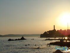 Por do Sol numa Praia de Split - Croacia