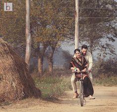 Wedding Couple Poses Photography, Wedding Portraits, Couple Posing, Couple Shoot, Pre Wedding Videos, Punjabi Couple, Ethnic Wedding, Cute Relationships, Wedding Couples