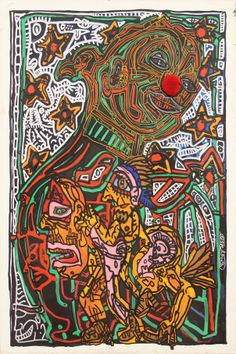🔹Robert Combas 🔹🍁More Pins Like This At FOSTERGINGER @ Pinterest 🍁🔹 Bad Painting, Mural Painting, Jean Dubuffet, Neo Expressionism, Art Brut, Fauvism, Laurent, Conceptual Art, Rock