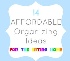 TONS of organizing ideas! #organization #organize #clean