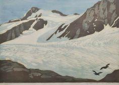 Wimpelkette - Farbholzschnitt - Max Sparer (Tramin 1886 - Bozen 1968), Finalspitze