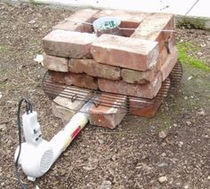 Picture of Blow Dryer and Red Brick Aluminum Forge