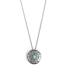 Avinas Jewelry Collection 2013 - Turquoise and silver locket with delicate necklace silver - Original modern necklace