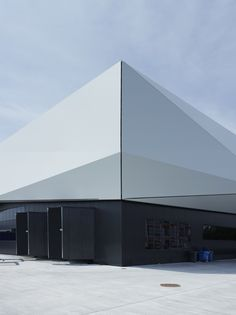 Image 42 of 42 from gallery of ICRC Logistics Complex / concept facade Factory Architecture, Pavilion Architecture, Industrial Architecture, Modern Architecture, Industrial Design, Warehouse Design, Factory Design, Facade Design, Exterior Design