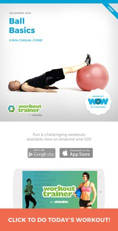 This casual workout takes you through some stability ball staples for a great core blast. You don't need any other equipment for this workout, just your stability ball. Have a ball with these ball basics! #stabilityball #core #abs #exerciseball #ball #workout http://skm.me/sw/5aHB
