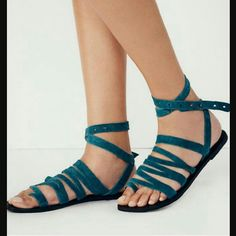 Free people turquoise sunever sandals size 9 New in box, turquoise color. Free People Shoes Sandals