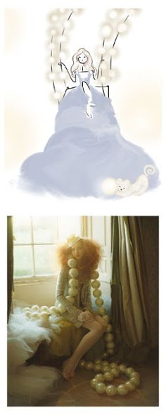 A Girl & Her Pearls by Brooke Costello, Inspired by Tim Walker