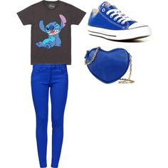 Untitled #7 by veroflores-vf on Polyvore featuring polyvore fashion style Disney Boutique Moschino Converse George J. Love