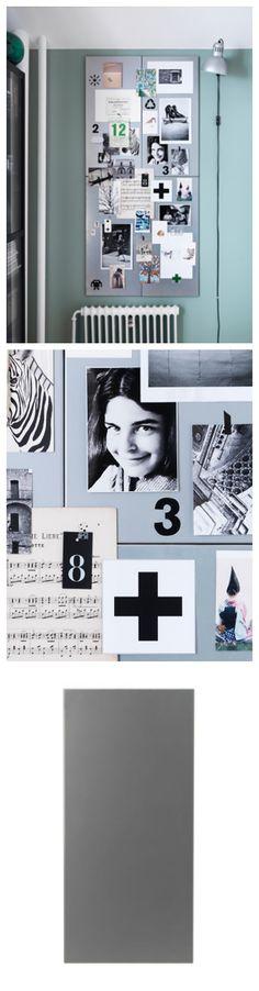✔ SPONTAN (Magnetic board, silver-colour. 37x78 cm)