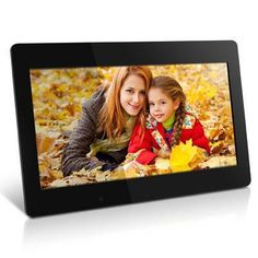 1366x768 High Resolution,Remote Control 18.5 Inch Digital Photo Frame Full HD 1080P Supported Picture Music Video Player with Motion Sensor