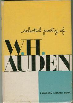 w.h. auden (please add designer credits if you know them. Thanks, @Otto Steininger)