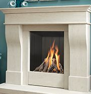 The Kinder Avelli, traditional fireplace with stone surround