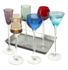 Long Stem Liqueur Glasses Set of Six | Artland | Shot Glasses | Fancy | Forages £24.95 #BeautifulGift