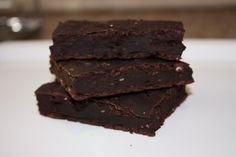 Black Bean Brownies  1 15oz can of black beans, rinced well (or 1 3/4 cups)  1Tbsp instant coffee  1tsp cinnamon  1/2 cup unsweetened cocoa powder  2 bananas (just ripe, a little green even)  1/3 cup agave nectar (or honey)  3 Tbspstevia (or splenda)   1 Tbsp vanilla  1/4 cup instant oats
