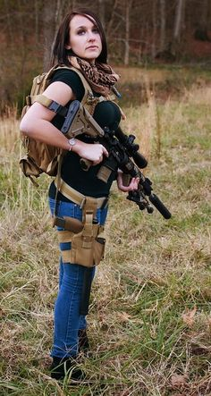 Awesome! Zombie and SHTF ready! #woman #guns