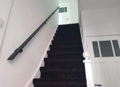 Trapleuningen en balustrades - BD RVS Designs Glass Stairs Design, House, Home Decor, Stairs, Build House, Black, Full Bath, Decoration Home, Home