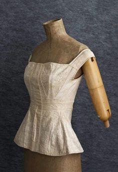 Hand embroidered wedding corset circa 1820