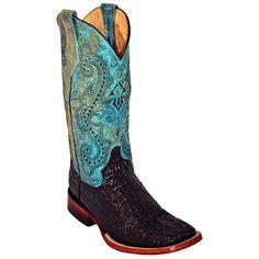 Ferrini Women's Caiman Tail Print Western Boots