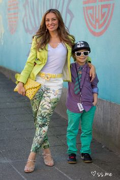 Maria of Ladies Who Lunch and her adorable son at Vancouver Fashion Week