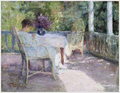 "Tit Dvornikov, (Ukraine, 1862 – 1922) «On the Terrace"", early 20th century."