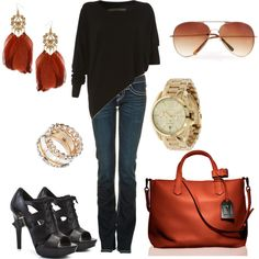Black Sweater and Jeans, created by sallyshep on Polyvore