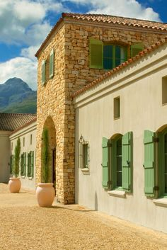 Tucked away in one of the most romantic corners of the world, is a beautiful town called Stellenbosch. Here are the top wineries, place to stay, and dine. Beautiful Gardens, Beautiful Homes, Wine Chateau, Clifton Beach, South African Wine, France, Play Houses, Around The Worlds, Exterior