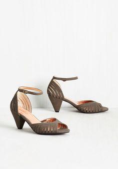Inspired Heel. Your style? #grey #modcloth
