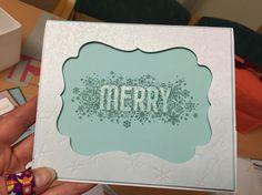 Scrapbooking card Merry