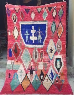 Vintage Moroccan boujaad rug 240 x 157 cm