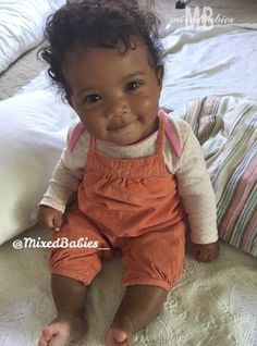 Beautiful baby girl with a sweet smile