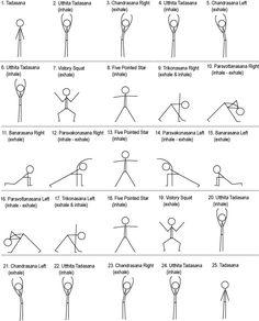 Stick figure yoga chart