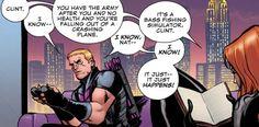 Clint and Natasha during Loki #1