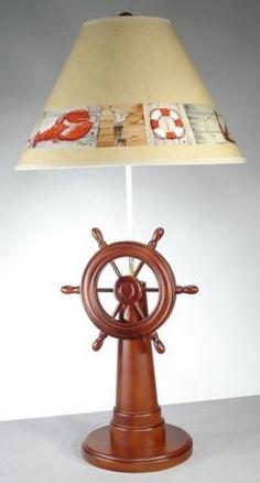 Ship's Wheel Lamp | OceanStyles.com