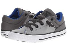 $40.00 Converse Kids Chuck Taylor® All Star® High Street Slip (Little Kid/Big Kid) Dolphin/Thunder/Blue - Zappos.com Free Shipping BOTH Ways