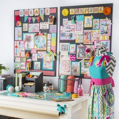 Design an office space that will inspire you! Fill it with your favorite colors, designs and inspirational pieces to take your creativity to the next level.
