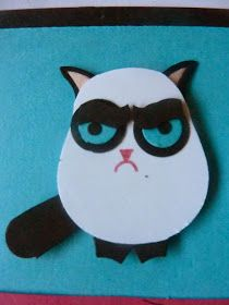Grumpy cat made with SU! owl punch