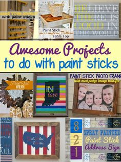 Awesome Projects to do with Paint Sticks