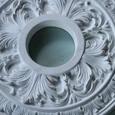 Small Victorian Plaster Ceiling Rose 360mm SPR006. Quality casting in a small rose makes it look epic. #ceilingrose