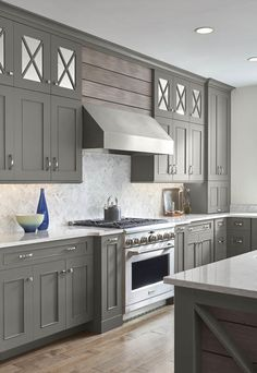 Fully custom cabinetry plus 20 years of experience Kitchen Refacing, Kitchen Cabinet Styles, Custom Kitchen Cabinets, Custom Cabinetry, Dark Grey Kitchen Cabinets, Modern French Kitchen, Classic White Kitchen, Kitchen Models, Kitchen Images