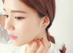 South Korea imported 925 needles earrings genuine sweet roses earrings earrings to send his girlfriend a gift - Taobao Taiwan, omnipotent Taobao