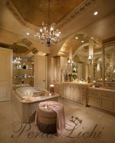 Fabulous Bathroom. No man should ever use a bathroom this beautiful