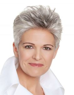 Salt and pepper gray hair. Grey hair. Silver hair. White hair. Granny hair don't care. No dye. Dye free. Natural highlights. Aging and going gray gracefully. Short gray hair.