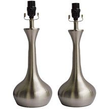 "Walmart: Better Homes and Gardens Teardrop Lamp, Brushed Nickel Finish, 2pk. 17"" $50.00 pr"