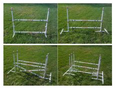 Bunny Hopping Hurdle or Small Dog Agility training Jump. Lots of Choices  This Small Agility Jump can be used for just about anything! It can be set up