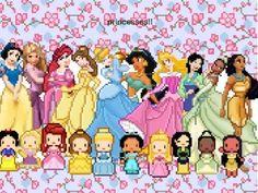 pixel art: Princesses by 1pohdetg   PIXEL'D   Disney