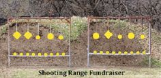 Fundraiser Help: Shooting Range Fundraiser Event Idea - DIY Home Project Shooting Targets, Shooting Sports, Archery Targets, Shooting Gear, Outdoor Shooting Range, Fundraising Events, Fundraiser Event, Fundraisers, Fundraising Ideas